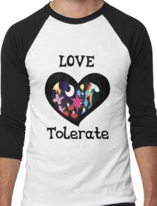 love and tolerate Men's Baseball ¾ T-Shirt