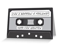 Kirk Van Houten Tape Greeting Card