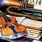 Violin And Bugle by Susan Savad