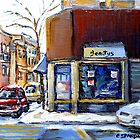 MONTREAL MEMORIES EXCEPTIONAL CANADA ART BEAUTY'S RESTAURANT RUE ST.URBAIN BEST MONTREAL ART by Carole  Spandau