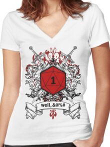 We've All Had Rolls Like That (Censored) Women's Fitted V-Neck T-Shirt