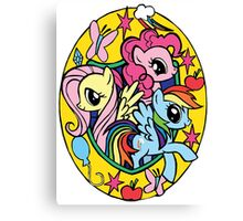 pinkie pie, fluttershy and rainbow dash Canvas Print