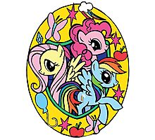pinkie pie, fluttershy and rainbow dash Photographic Print