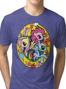 pinkie pie, fluttershy and rainbow dash Tri-blend T-Shirt