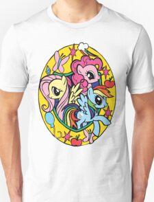 pinkie pie, fluttershy and rainbow dash T-Shirt