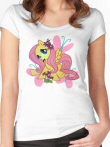 flutterstache Women's Fitted Scoop T-Shirt