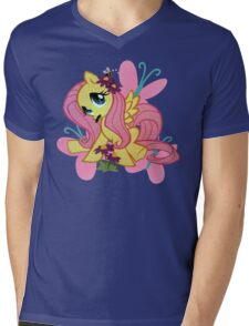 flutterstache Mens V-Neck T-Shirt