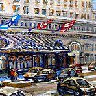 Rue Sherbrooke Best Canadian Original Art For Sale Ritz Carlton Paintings  Montreal Street Scenes by Carole  Spandau
