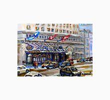 Rue Sherbrooke Best Canadian Original Art For Sale Ritz Carlton Paintings  Montreal Street Scenes Unisex T-Shirt