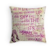 Looking Up At the Sky Throw Pillow