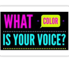 What Color Is Your Voice? Sticker