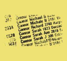 Sarah Connor Phone Book Baby Tee