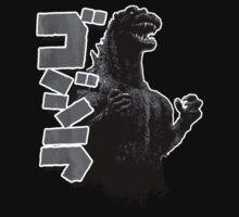 Godzilla Black and White Kids Clothes