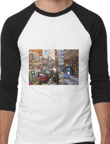 The Ritz Carlton Hotel Sherbrooke Street Montreal  Best Original Canadian Paintings  Men's Baseball ¾ T-Shirt