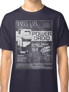 Power Droid Owners Manual Classic T-Shirt