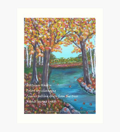 Autumn Haiku Art Print