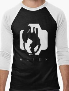 Alien Silhouette  Men's Baseball ¾ T-Shirt