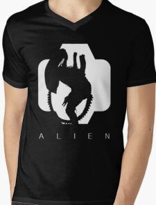 Alien Silhouette  Mens V-Neck T-Shirt