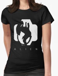 Alien Silhouette  Womens Fitted T-Shirt
