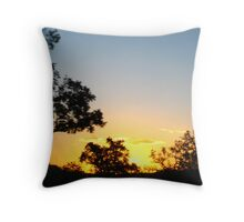 Sunset in Kruger Park Throw Pillow