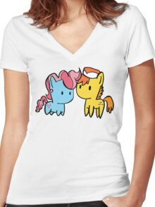 mr. and ms. cake Women's Fitted V-Neck T-Shirt