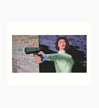 GIRL WITH A GUN Art Print