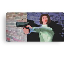 GIRL WITH A GUN Canvas Print