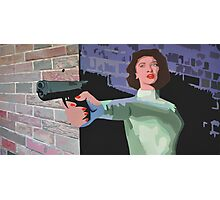 GIRL WITH A GUN Photographic Print