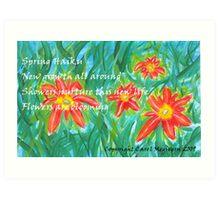 Spring Haiku Art Print