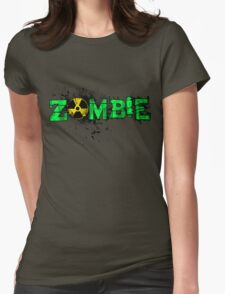 Zombie Banner Green Womens Fitted T-Shirt