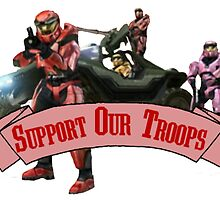 Support Our Troops - Red Team by JezaXC