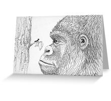 Gorilla and Ant Greeting Card