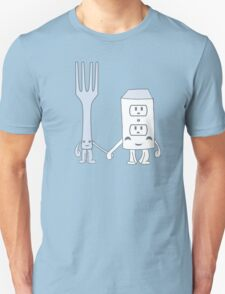 The Cutest Couple: Fork & Electrical Outlet T-Shirt