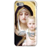 Bad Mood Mary and Jesus  iPhone Case/Skin