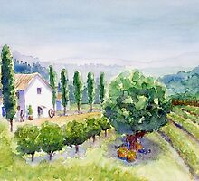 French vineyard by Carl Conway