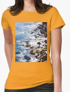Water on the Rocks Womens Fitted T-Shirt