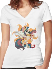 princess celestia Women's Fitted V-Neck T-Shirt