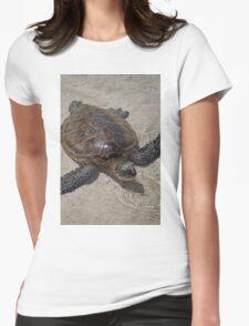 Honu Swimming Womens Fitted T-Shirt