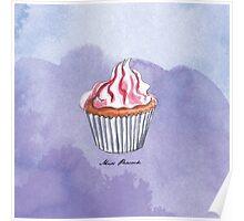 Berry Cupcake Poster