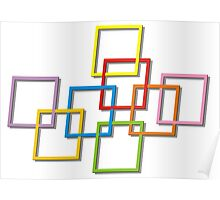 Coloured Rectangles Entangled Poster