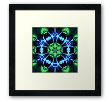 Blue Ring Rose Framed Print