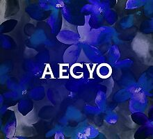 AEGYO - BLUE FLORAL  by Kpop Love