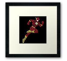 Who is the Flash? Framed Print