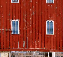 Fancy Red Barn by linda lowry