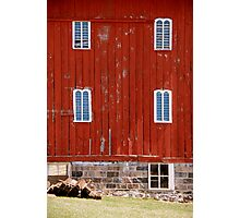 Fancy Red Barn Photographic Print