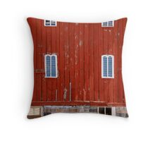 Fancy Red Barn Throw Pillow