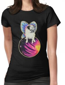Puggerfly In Space Womens Fitted T-Shirt