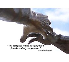Helping Hands Photographic Print