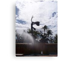 Bronze Sculpture, Old San Juan Canvas Print