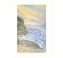 Cliffs on Monhegan Art Print